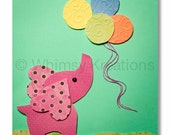 Baby Elephant with Balloons, Elephants, Jungle