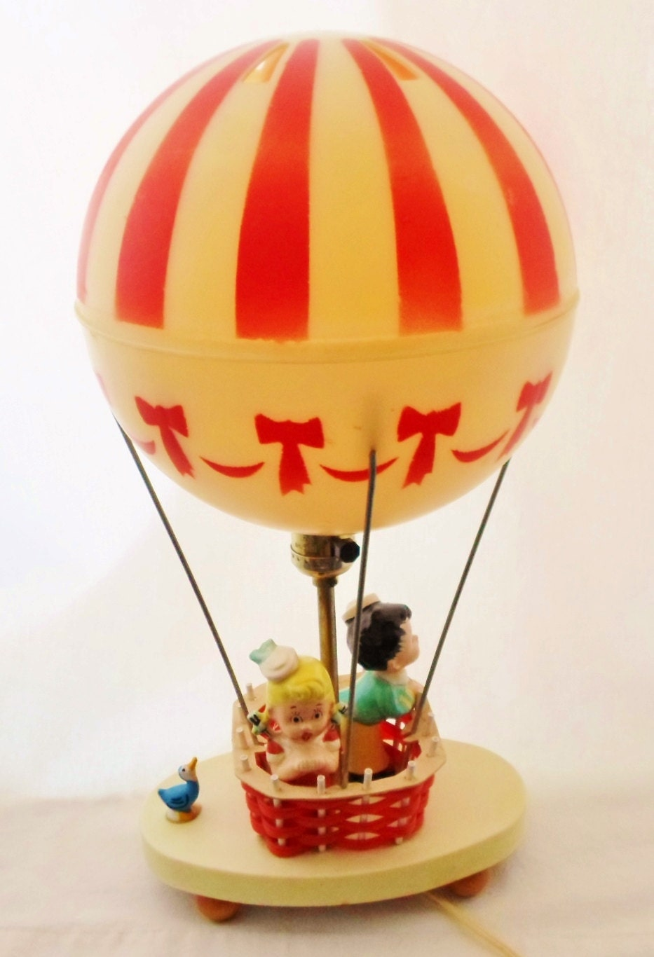 Dolly Toy Co Hot Air Balloon Lamp Vintage 1971 Child S