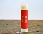 Pizza Lip Balm - novelty lip balm - pizza lip balm - gag gift lip balm - food lip balm - funny lip balm