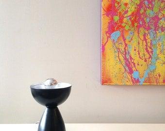 Bowl of Light Metal Table Lamp