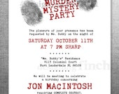 Clue Birthday Invitation, Murder Mystery Party, Customizable, Printable #134