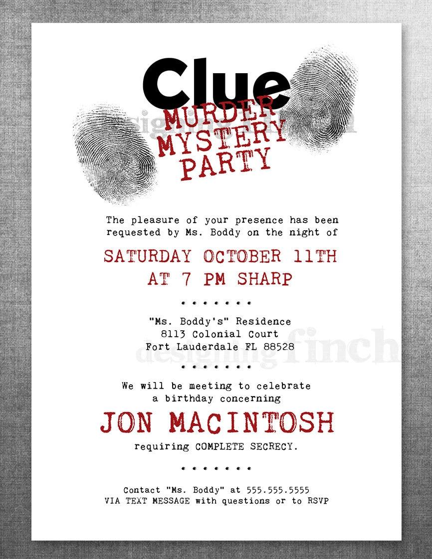 Murder Mystery Dinner Invitation was best invitations layout