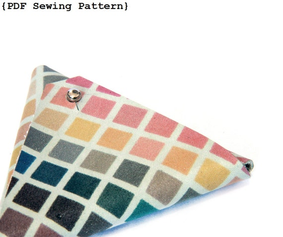 Sewing Pattern Triangles Triangle Pouch Sewing Pattern