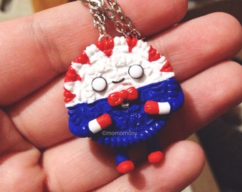 MADE TO ORDER Adventure Time Peppermint Butler Oreo Necklace