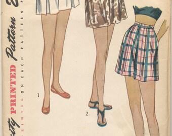 Vintage 1947 Simplicity Pattern 2017 Shorts Waist 25