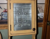 Owl, Cottage, Punched Tin, Medicine Cabinet, Shelf, Storage, Cabinet SHIPS FREE in the US