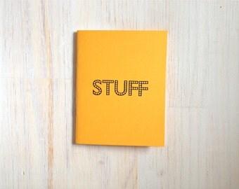Medium Notebook: Stuff, Yellow, Funny, Bright, Kids, Blank Journal, Wedding, Favor, Journal, Blank, Unlined, Unique, Gift, Notebook, B295