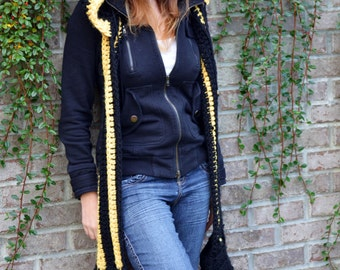 SALE! Dark Night Umbreon Pokemon Eeveelution Scoodie Scarf + Hood