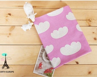 Cloud Cotton Fabric - Pink - By the Yard 54255