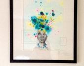 Ciara. Fine art print. Open edition framed giclee print