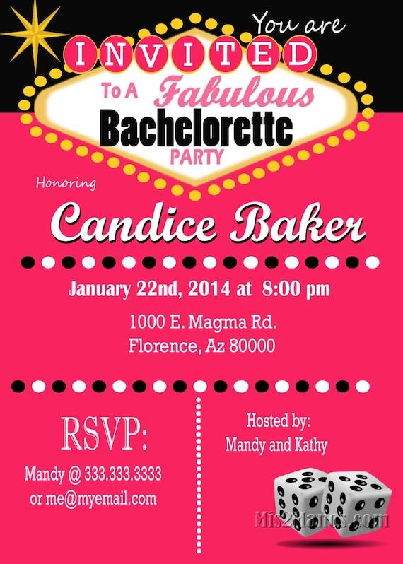 Casino Theme Party Las Vegas Bachelorette Party Invitation – Vintage Bachelorette Party Invitations