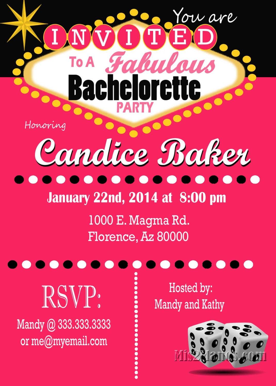 Casino Theme Party Las Vegas Bachelorette Party Invitation – Las Vegas Party Invitations