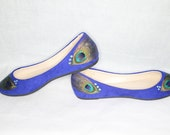 Royal Blue Peacock Flats
