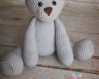 Made to order Crochet teddy bear doll