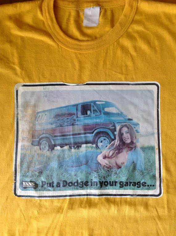 Vintage 70s Nudie Dodge Vans & Trucks Magazine Shirt M-L
