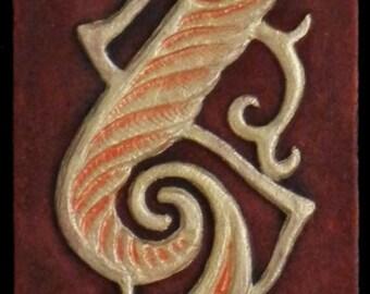 Celtic Wing -  Cast Paper - Fantasy art - Celtic - Irish - Scottish - Eclectic