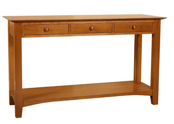 New Shaker Sofa Table Solid Cherry Sofa Table By Domestichome