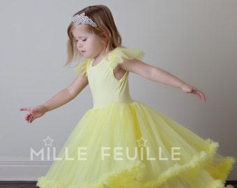Belle Dress - pettiskirt dress couture beauty and the beast inspired princess dress