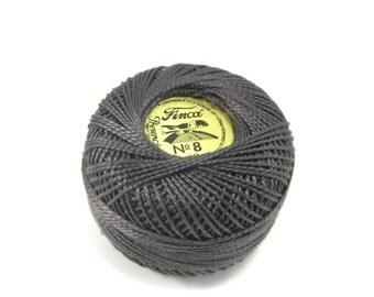 Finca Perle Cotton Thread Pearl Cotton - Almost Black