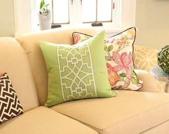 Schumacher Pillow Set- Huntington Garden and Don't Fret