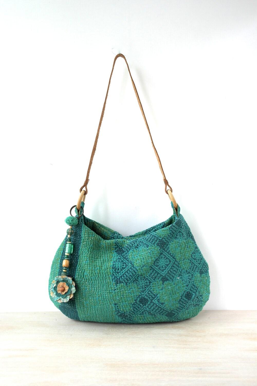 Kantha Bag Kantha Quilt Bag Indian Bag Shoulder Bag