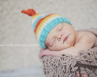 Baby Girl Photo Prop, Newborn Girl Photo Prop, Baby Girl Knit Hat, Baby Boy Knit Hat, Baby Girl Hat, Knit Baby Hat, Striped Baby Beanie