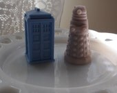 Doctor Who Soap - Tardis and Dalek Soap Set - Handmade Geek Gift - Dr WHO - Whovian Wedding Favors - Housewarming - Sci-fi Baby Shower