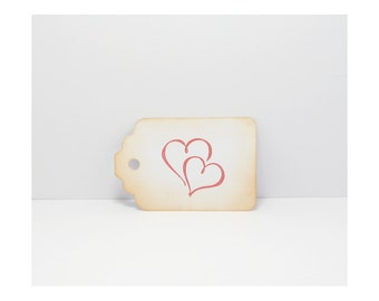 Tag Hearts, Gift Tag Hearts, Tags, Gift Tags, Heart Tags, Wedding Tags, Rustic Gift Tags,Distressed Tags, Wish Tree Tags, Wishing Tree Tags