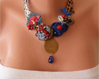 Special Design - Perfect Gift - Crochet and Bead Necklace