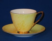 FREE SHIPPING - Mid Century 1950s Yellow Royal Albert Bone China England Gossamer Cup and Saucer