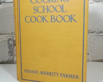The Boston Cooking-School Cook Book. Vintage Hardback Edition. 1945. Fannie Merritt Farmer.