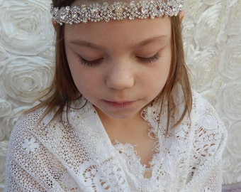 Crystal Headband ,Bridal Headband, Vintage Headband, Beaded Headband, Crystal Headband, Bridal Headpiece, Headpiece, Wedding Hair