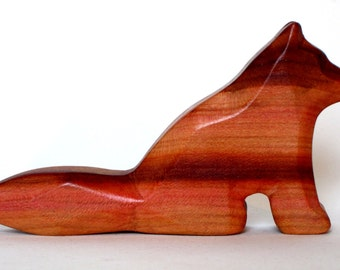 Little Fox, Carved from Plum-wood