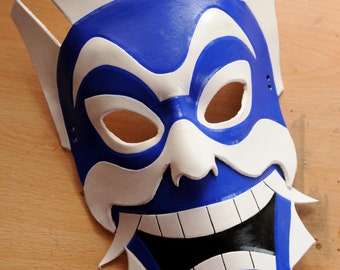 Blue Spirit leather mask - Made to Order