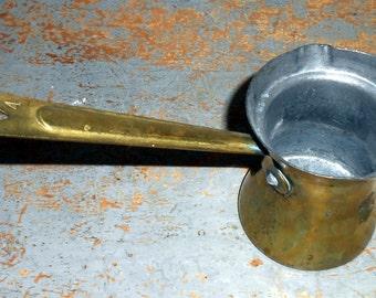 Vintage Brass Dipper, Turkish Coffee Pot, Brass Scoop, Brass Ladle,  # 4