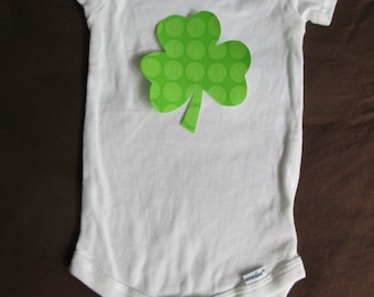 Saint Patricks Day Shamrock iron on applique - for baby or kids tee