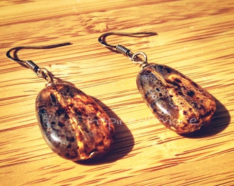 Spotted Amber earrings
