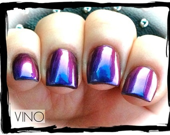 Mega Multichrome (Vino)  Multi-Color Shifting Polish:  Custom-Blended Glitter Nail Polish / Indie Lacquer / Polish Me Silly