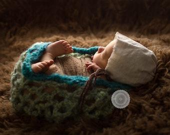 Crochet Pretty Picot Baby Bowl - Newborn (PATTERN ONLY)