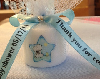 25 snoopy like themed baby themed party favors votive
