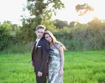 De Havilland - Old Hollywood Argento Wedding Gown