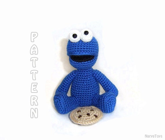 Amigurumi Cookie Monster Pattern : PDF Cookie Monster Amigurumi Pattern