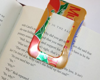 Arizona Tea Mucho Mango - BOOKMARK & PAPER CLIP Set - from Recycled Soda Pop Can