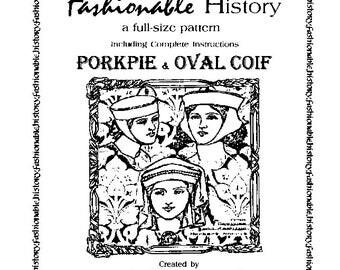 Porkpie & Oval Coif Pattern by Queta's Closet Pat. No.103