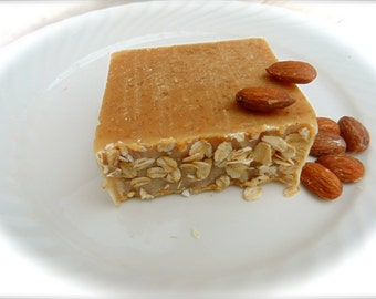 Eczema Relief Honey Almond Milk Soap, Goat Milk Body Soap, Raw Honey Milk & Oatmeal Soap