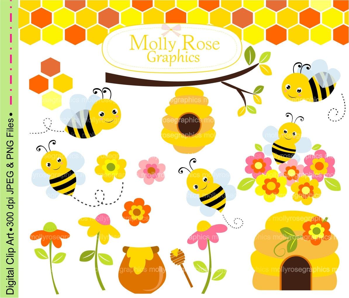 sale bees clip art digital clip art cute bumble beehoney