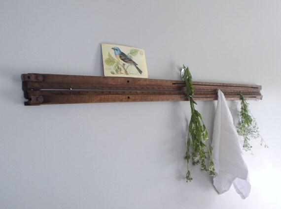 Upcycled Vintage Curtain Stretcher / Herb Rack / Kitchen Decor