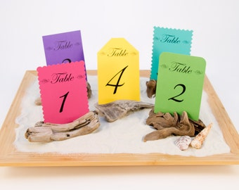 5 Driftwood Table Number Holders, Place Card Holder, Wedding Favors, Nautical Party, Photo Holder, Wedding Table Decor, Rustic, Beach Decor