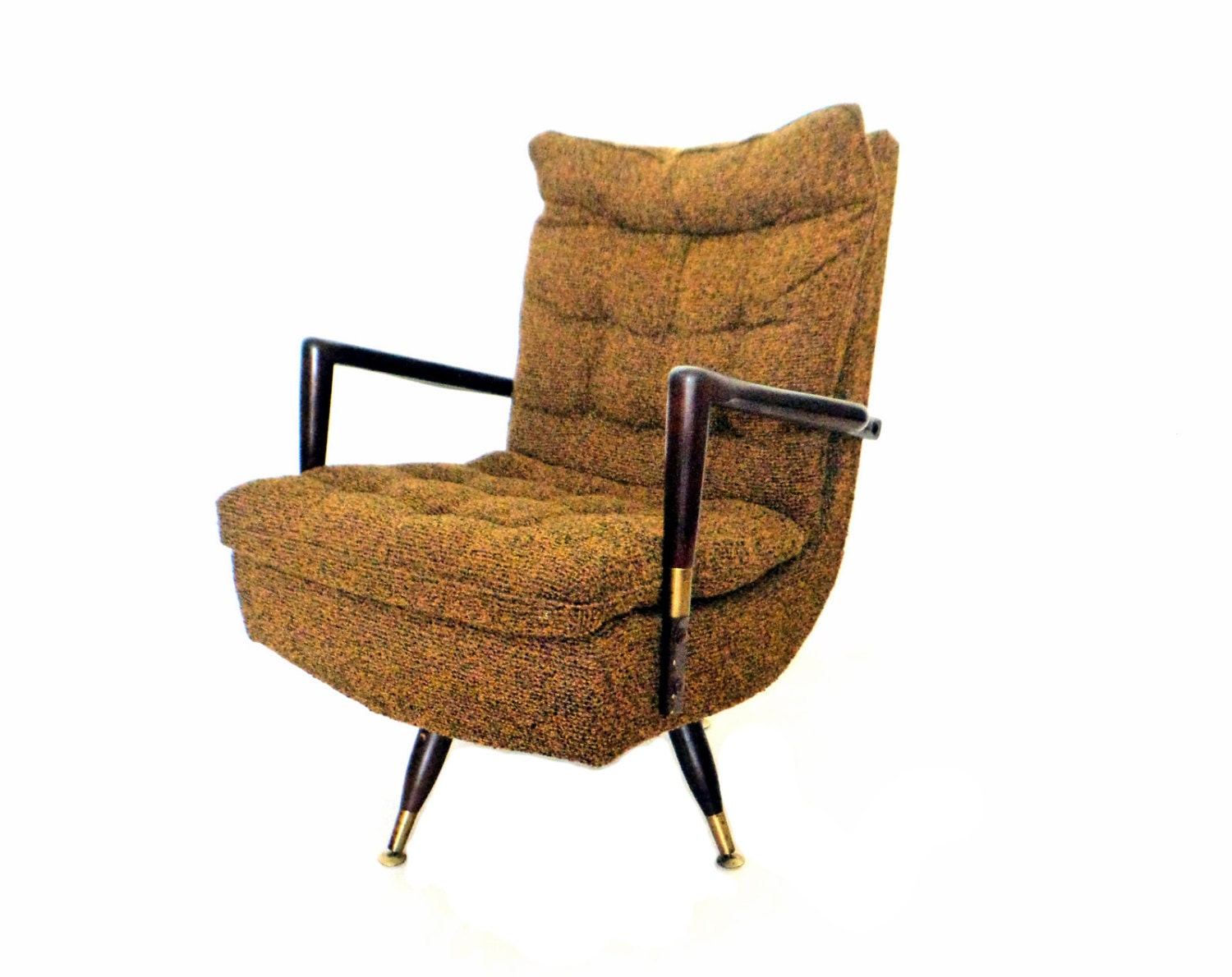 mid century modern swivel chair retro rocking by stonesoupology. Black Bedroom Furniture Sets. Home Design Ideas