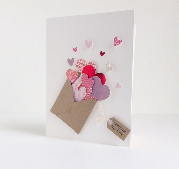Items similar to Handmade Greeting Card Romance Card Valentines – Valentine Card for Lover
